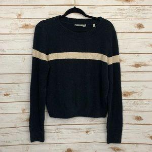 Vince Single Strip Long Sleeve Knit Sweater